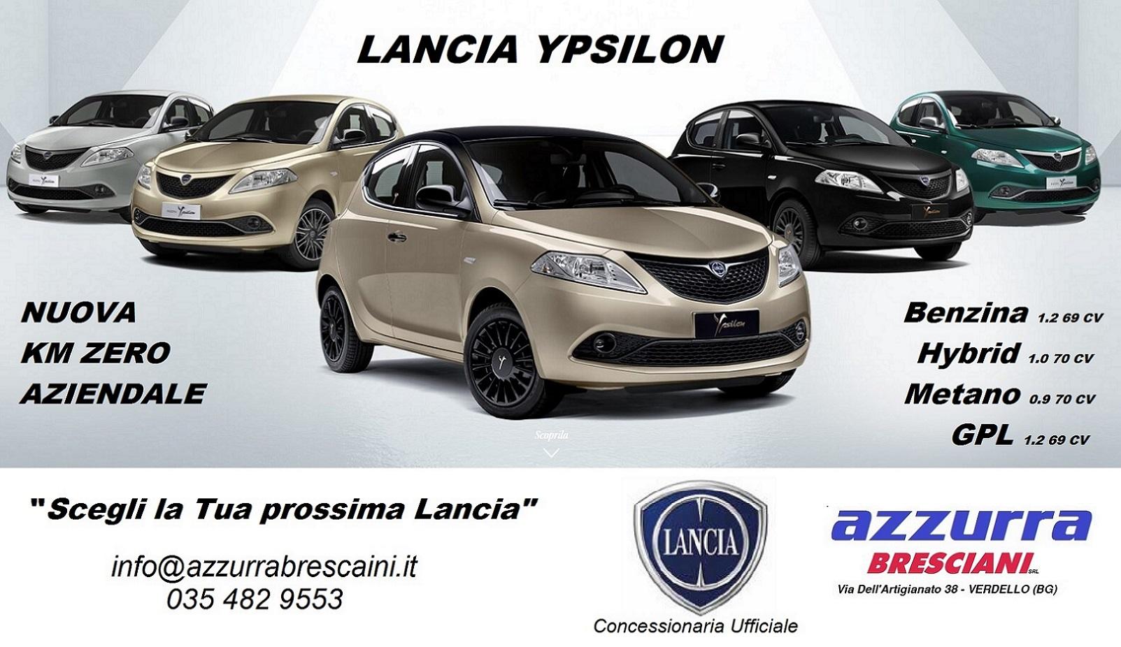 Nuova LANCIA Ypsilon TUTTA LA GAMMA